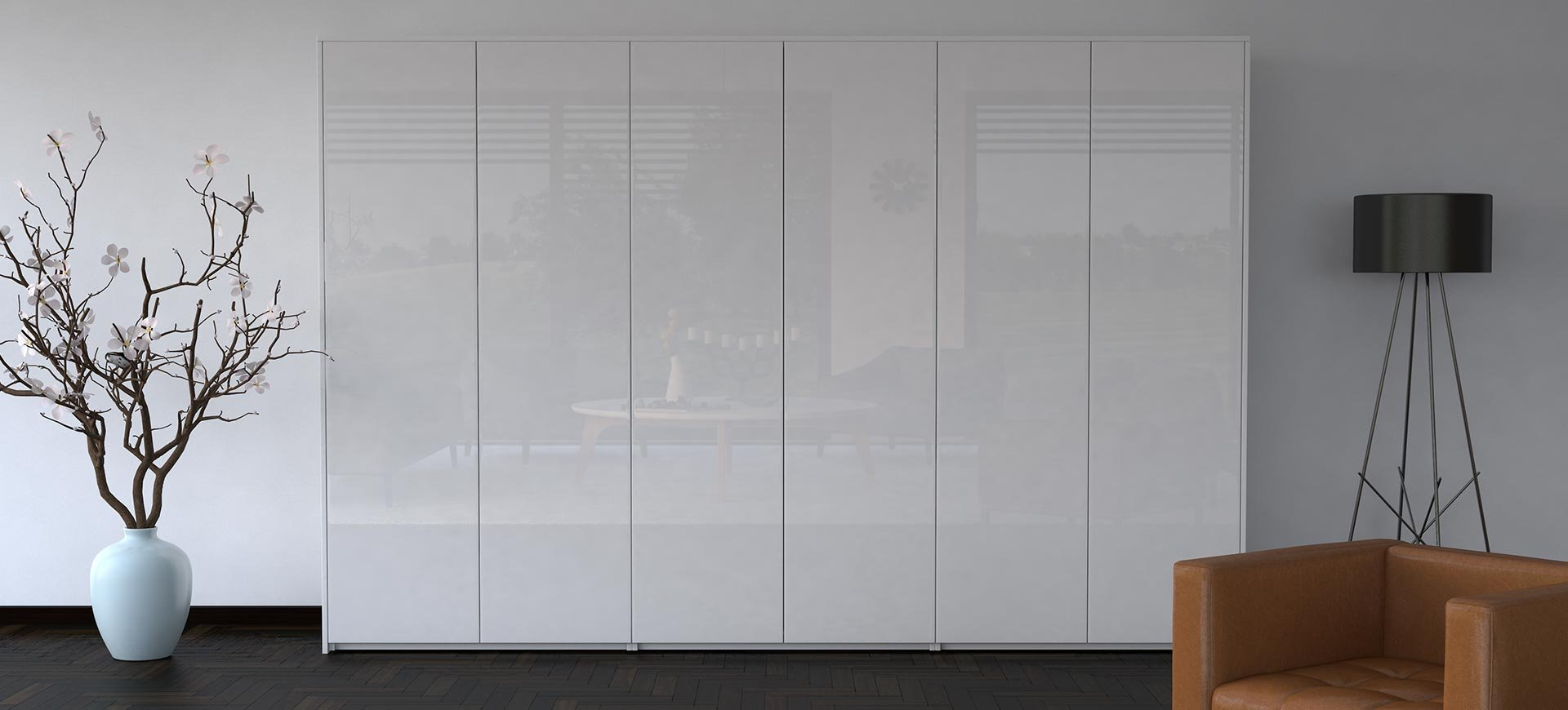 SEA Wardrobes cube white closed front